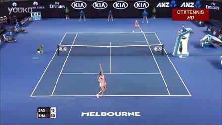 2016澳大利亚网球公开赛女单R2 莎拉波娃VS萨斯诺维奇 (自制HL)