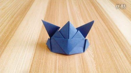 手工折纸视频帽子系列  骑士帽