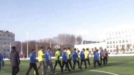 内蒙古自治区赤峰市喀喇沁旗锦山中学师生足球对抗赛(上半场)
