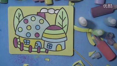 亲子游戏沙画粉红猪小妹的蘑菇屋小猪佩奇变形金刚