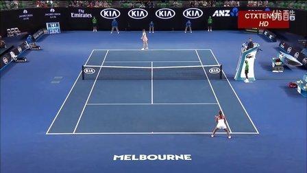 2016澳大利亚网球公开赛女单R3 莎拉波娃VS戴维斯 (自制HL)