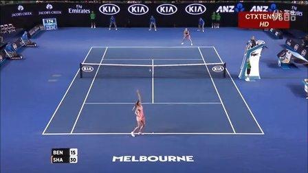 2016澳大利亚网球公开赛女单R4 莎拉波娃VS本西奇 (自制HL)