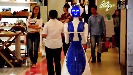 商场冰激凌店服务员机器人--博乐机器人表演[www.boole-tech.com]