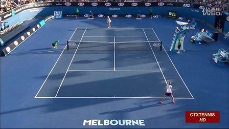 2016澳大利亚网球公开赛女单R1 布沙尔VS克鲁尼奇 (自制HL)