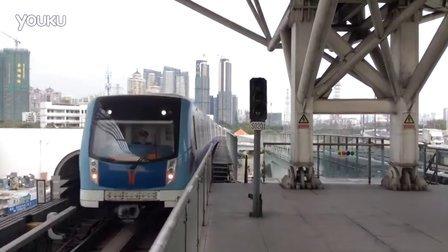 广州地铁5号线(国产牵引列车)进坦尾站(滘口方向)