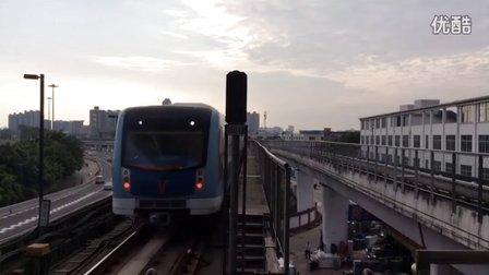 广州地铁5号线(国产牵引列车)进坦尾站(文冲方向)