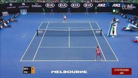 2016澳大利亚网球公开赛女单R3 伊万诺维奇VS凯斯 (自制HL)
