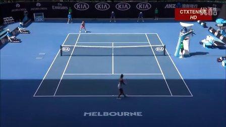 2016澳大利亚网球公开赛女单QF 科贝尔VS阿扎伦卡 (自制HL)