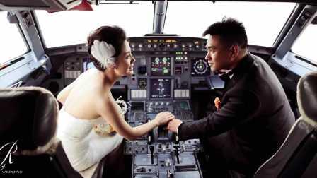 Philip + Echo · 跨越2000公里的包机接亲 | GoldenLove婚礼影像
