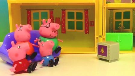 双语玩具学校 2016 粉红猪小妹全家去吃披萨饼 披萨切切看 猪小妹全家去吃披萨饼