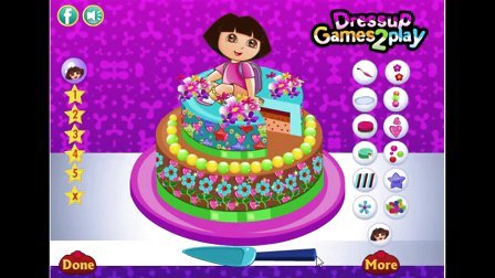 爱探险的朵拉系列游戏之美味的朵拉蛋糕小主公解说