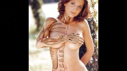 美女人体彩绘