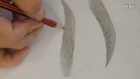 李文广老师教你半永久性纹绣眉毛线条排列