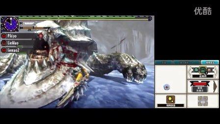 3DS《怪物猎人X》中文版HR7空战斩斧上古崩龙直播实况28