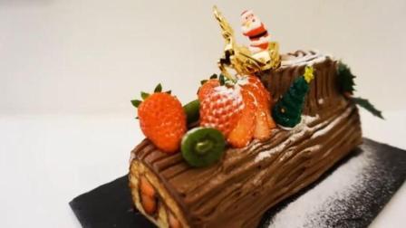 【喵博搬运】【食用系列】圣诞树桩蛋糕( ̄m ̄)
