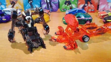【魔力玩具秀】雷动熊怪, 迅尾巨蜥 灵动魔幻车神自动爆裂变形玩具车机器人