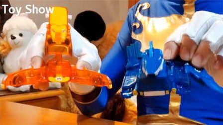 【魔力玩具秀】呼啸雄狮 巨口魅鲨 魔幻车神自动爆裂变形玩具车机器人(13)