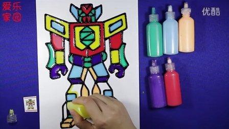 亲子游戏 变形金刚胶画 智力手工 变形金刚 儿童胶画教程
