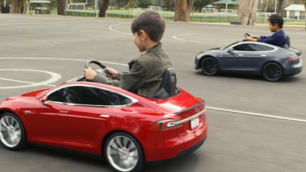 2016比iPhone6便宜一半 特斯拉儿童版电动车Model S for Kids Tesla
