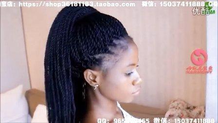 哈默尼大辫子X-Pression hair辫接视频 165克盘头辫接和80克单色、100克渐变色大辫子克辫子脏辫编接视频教程2