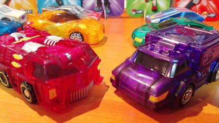 【魔力玩具秀】通天车神, 奇诡巫师 韩国魔幻车神自动爆裂变形玩具车机器人爆裂飞车猎车兽魂