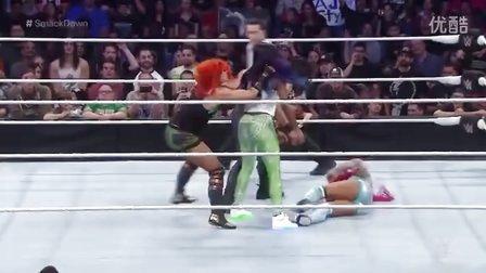 SD 2/18: 姐妹反目:夏莎获胜竟遭塔蜜娜娜欧米联手狂殴,贝基林奇救场却至姐妹反目