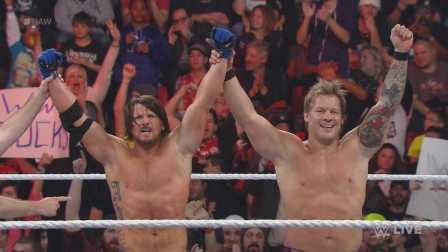 Raw 2/22 AJ&Y2J合体 梦幻CP出场