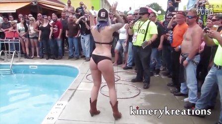 Ohio Bike Week Bikini丝袜 写真 性文化节 内衣秀,全程真空,比基尼, 泳装