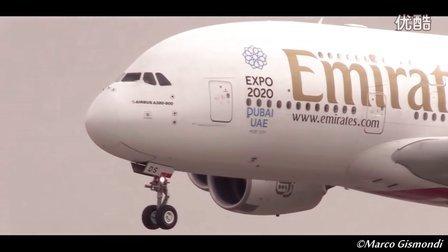 罗马菲乌米奇诺机场2016年2月飞机起飞降落集锦 1080P