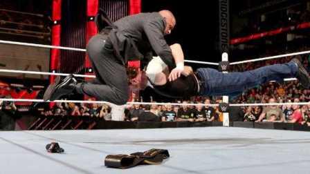 Raw 2/29 王中王发威 DA步伦斯后尘险毁容