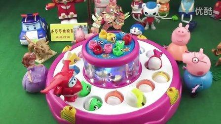 钓鱼玩具 超级飞侠 小猪佩奇 小公主苏菲亚 海底小纵队 大头儿子 变形警车珀利 灵动蹦蹦兔