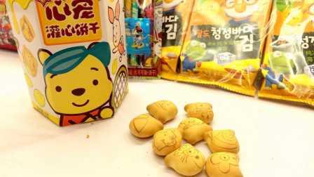 迪士尼维尼熊注心饼干开袋试吃分享 班兰柠檬口味 米奇妙妙屋米妮唐老鸭跳跳虎动画片卡通
