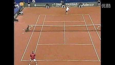 2002 Davis Cup 瑞士VS俄罗斯 费德勒VS萨芬 (自制HL)