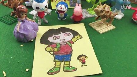 爱探险的朵拉 朵拉沙画 小猪佩奇 小公主苏菲亚 哆啦a梦 铁拳虎 恐龙玩具 大头儿子