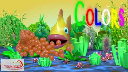 Colors for Children to Learn with Fish Bubble