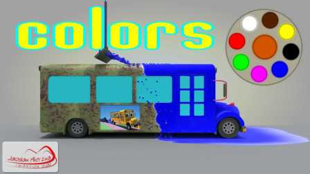 Learn Colors For Kids Children Toddlers with School Bus