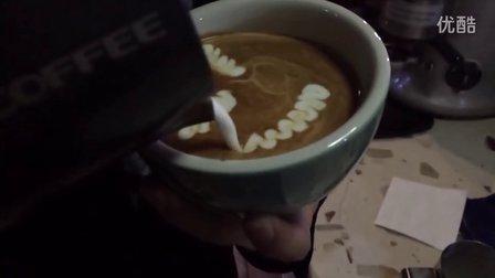 咖啡拉花,4只天鹅~