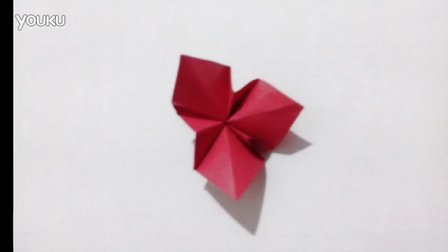 手工折纸视频  三瓣花
