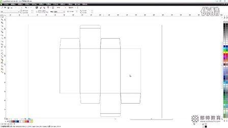 CDR包装设计刀模图制作_coreldrawx6教程