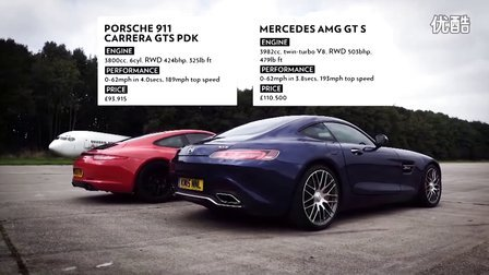 奔驰AMG GTS 直线加速vs 保时捷911 Carrera GTS - Top Gear