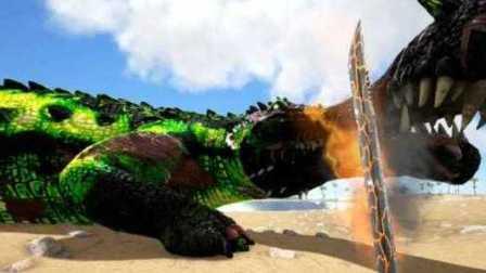 【峻晨解说】独狼生存起源149-站撸河流之王~鳄鱼BOSS!唯有烈焰神剑、方舟生存进化