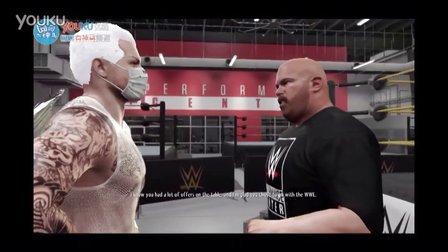WWE2K16生涯模式-捏人细节及DBK诞生记-01