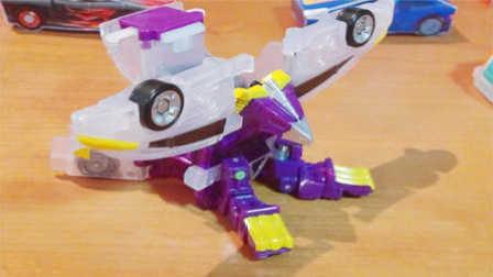 【魔力玩具学?!烤焐耩眨ㄊ粘瞪瘢?第二三季新款韩国魔幻车神自动爆裂变形玩具车机器人爆裂飞车猎车兽魂