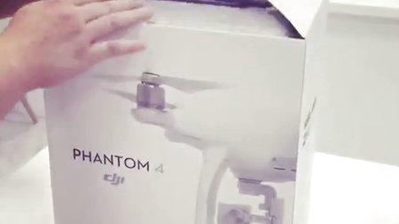 42秒 大疆 精灵4 开箱体验实拍视频!真机滑滑的瘦瘦的手感非常好!