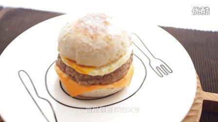 【绵羊料理】英式玛芬&芝士猪柳蛋汉堡的做法