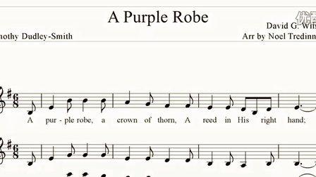 【Score】A Purple Robe § Gospel hymn written by Timothy Dudley-Smith