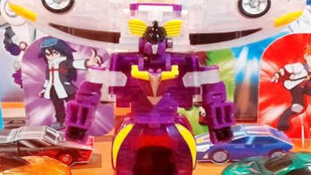 【魔力玩具秀】天地超神(惊天狮鹫、撼地神像合体)人鹫车神 第二三季新款韩国魔幻车神自动变形玩具车机器人爆裂飞车猎车兽魂