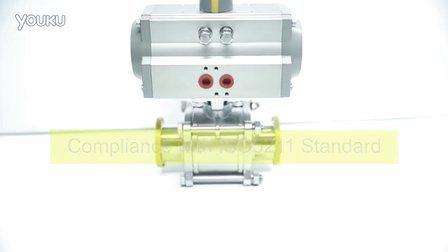 Sanitary Pneumatic Ball Valve With High Platform