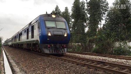 (三茂线火车视频)广铁广段DF11G0162+0159牵引客车Z806肇庆一九龙高速跨越小塘站