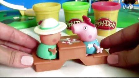 小猪佩琦吃汉堡  佩佩猪粉红猪小妹做培乐多饼干